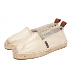 Penelope Chilvers Leather-Espadrille Champagner